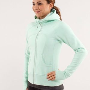 Lululemon scuba hoodie mint green zip up